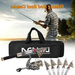 Travel 130cm Carbon Fiber Telescopic Fishing Rod Spinning Re