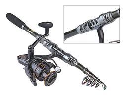 Telescopic Fishing Rod Reel Combo Kit Spinning Organizer Pol