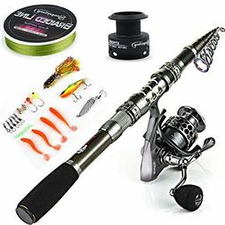 Sougayilang Telescopic Fishing Rod Reel Combos with Carbon F