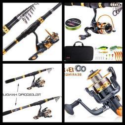 Sougayilang Telescopic Fishing Rod Reel Combos Portable Fish
