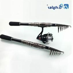 Telescopic Fishing Rod Saltwater Travel Spinning Fishing Rod