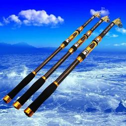 Telescopic Fishing Rod Spinning Fish Hand Tackle Sea Carbon