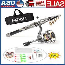 💥Telescopic Fishing Rod Spinning Pole Reel Combo Full Kit