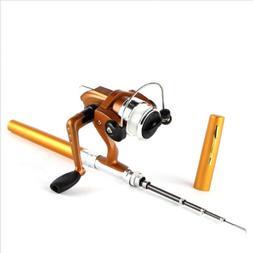 Telescopic Mini Pocket Fish Pen Aluminum Alloy Fishing Rod P