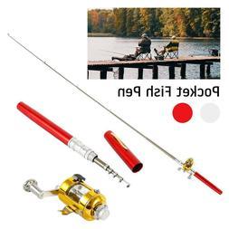 Telescopic Mini Portable Pocket Fish Pen Fishing Rod Pole Re