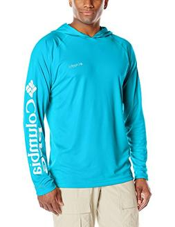Columbia Men's Terminal Tackle Hoodie, Blue Chill/White Logo