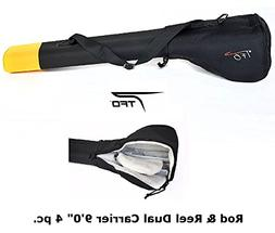 TFO 8.6 To 9.0 Inch 4PC Fly Rod Reel Carrying Case Four Rods