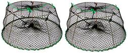 KUFA Sports 2-Pack of Tower Style Stainless Steel Prawn trap
