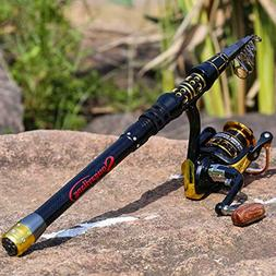 Travel Telescopic Fishing Rod and Reel Combos Spinning Reel
