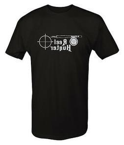 Tshirt -Reel Hunter Hunting Fishing Rod Rifle Scope