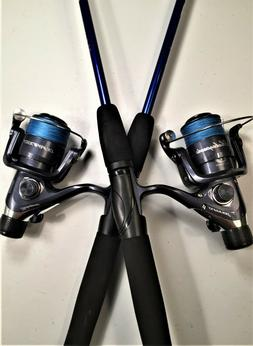 Two Durango 6½' Blue Spinning Rod & Grey Reel  Combos