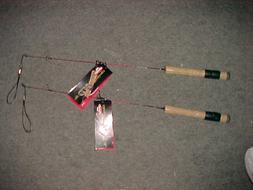 "TWO NEW BERKLEY CHERRYWOOD HD 26"" ICE FISHING ROD medium  LI"