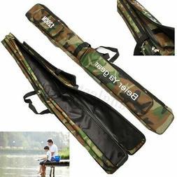 US Fishing Rod Case Carry Bag Travel Organizer Tackle Tool B