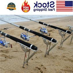 US Fishing Rod Holder Automatic Tip-Up Hook Setter Fish Pole