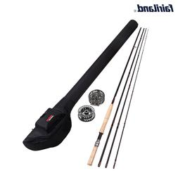 USA Fly Fishing Set  9/10 11/12 Package with fly fishing rod