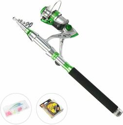 USDOX Metal Reel Fishing Rod Combo Carbon Telescopic Kit 2.2