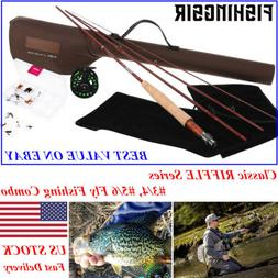 FISHINGSIR RIFFLE Fly Fishing Rod Reel Combo 3/4 5/6WT Graph