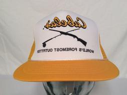 VTG CABELA'S SNAPBACK HAT OUTDOORS CAP HUNTING FISHING ROD R