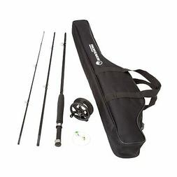 Wakeman Charter Series Fly Fishing Combo With Carry Bag Blac