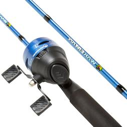 Swarm Series Blue Spincast 2 Pc Rod and Reel Combo 63 Inch F