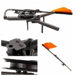 Winter Ice Fishing Rod Tip-Up Ice Fishing Pole Compact Orang
