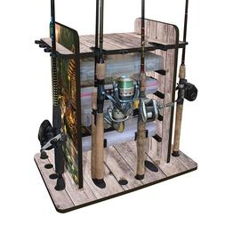 Wood 14-rod Fishing Equipment Storage Rack