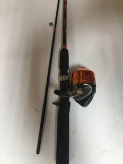 South Bend Worm Gear Fishing Rod and Spincast Reel Combo Ora