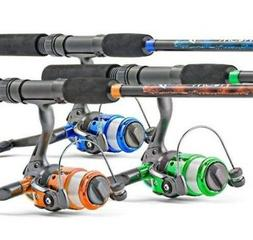 South Bend Worm Gear Spinning Fishing Combo - Green, Blue or
