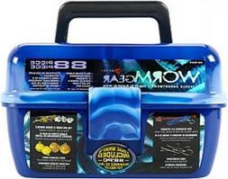 Fishing Single Tray Tackle Box- 55 Piece Tackle Gear Kit Inc