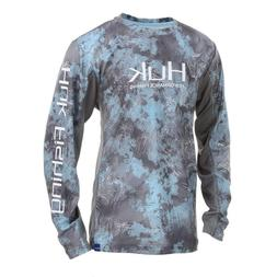 HUK Youth ICON X Camo LS Performance Fishing Shirt--Pick Col