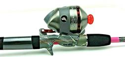 Zebco ZR33K Rhino Reel With 33 Pink Camo 6' 2 Piece Rod 33